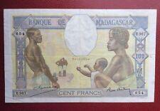 France - Madagascar - Très Joli et Rare billet de 100 Francs  type de 1937