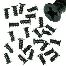 Pack of 25 5x10mm Black PC Fan Screws - Computer Case Chassis 80mm/120mm