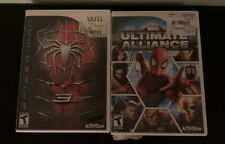 Nintendo Wii Spiderman 3 And Marvel Ultimate Alliance Two Game Lot Manuals