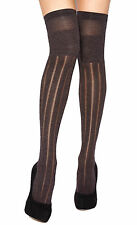 Levante Gisella Over Knee Socks. Grey, Vintage Red. 95% Polyamide 5% Elastane