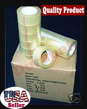 """36 Rolls 1.8 Mil 2"""" QUIET Clear Carton Sealing Tape 110 Yd Packaging Supplies"""