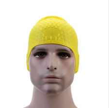 Adults Elastic Silicone Swimming Swim Cap Hair Protection Hat Bathing Hat Ears