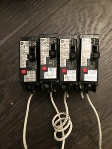 General Electric THQL1115DF Dual Function AFCI/GFCI Breaker 15A 120V 1P Lot Of 4