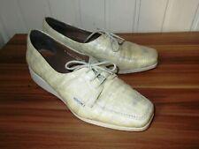 Chaussures mocassins lacets cuir jaune écailles MEPHISTO 7EUR 9.5US 40.5FR