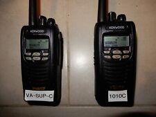 Lot of 2 Kenwood NX-200 VHF Handheld Portable Radio Talkie 2 Way Police