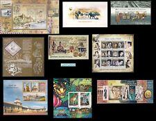 India 2011 Complete Year Miniature sheeets 9v Elephants Cinema Khadi Gandhi