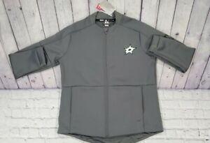 Adidas Dallas Stars Game Mode Bomber Full Zip Gray Jacket EB7330 WOMENS SIZE XL