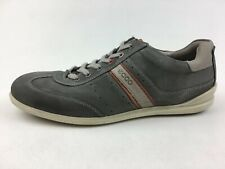 Ecco Lace Up Casual Sneakers Mens Size 46, Gray Leather 2036