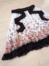 Rose flower garden Chiffon skirt axes femme Japan-M Hime Lolita Girly Fashion