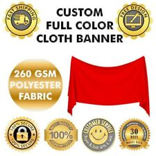 Polyester Fabric cloth poster flag Banner 5' X 5' Ft Dye sublimation technology