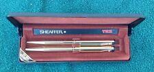 Vintage Sheaffer 23k Gold Electroplated Pen & Mechanical Pencil. TRZ White Dot