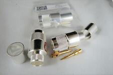 Silver-Teflon Type N Crimp/Solder Male Plug for LMR-600 & other 600 series Coax