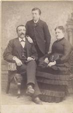 CABINET CARD PORTRAIT WELL-DRESSED FAMILY - MILTON/SUNBURY, PA