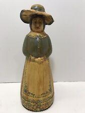 Vintage Hand Painted Folk Art Aunt Jemima Mrs Butterworth Syrup Bottle & Hat Cap
