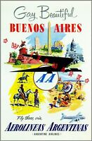 Gay And Beautiful Buenos Aires 1950 Argentina South America Vintage Poster Print