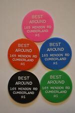 Food Stamp Tokens Set (5) BEST AROUND, CUMBERLAND, RHODE ISLAND