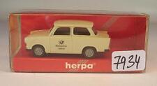 Herpa 1/87 Trabant 601 S Limousine Deutsche Post 129490 Trabbi OVP #7934