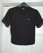 NEW Nike 16-18 Black Cropped Sports T-Shirt Style Top - Gum Yoga Running Gift