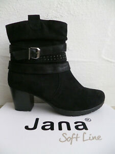 Jana Ankle Boots Soft Line Boots Ankle Boot Boots Black 25372 New