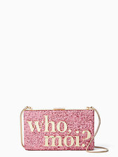 Kate Spade Disney Miss Piggy Who Moi Clutch Shoulder Bag Glitter w/Dust Bag NWT