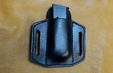 Leather Magazine Holder, 1911 .45, Single Stack, ACP, Belt or Pocket Carry, OWB