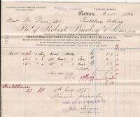 Bo.t of Robert Burley & Sons Limited 1894 Coban Manfs. & Mercs Invoice Ref 40715