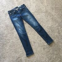 Adriano Goldschmied The Legging Ankle Super Skinny Dark Wash Jeans Size 26 R