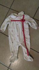 First Moments Christmas Layette/Sleeper - 6 Months - Ivory Tower - New  (G 12)