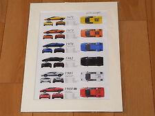 [Illustration] Lamborghini Countach History LP500 LP400 LP400S LP5000S 5000 LP