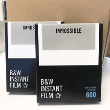 Lot of 2x Impossible Project 600 Black & White Film, Exp: 2016