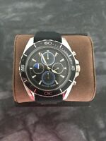 Michael Kors JetMaster Chronograph Mens Watch MK8486 Black Silicone Band