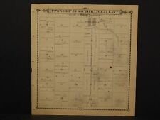 California Tulare County Map Terra Bella Township 23 Double Side  1892  !W12#30