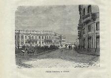 Stampa antica ODESSA Piazza caterina Ucraina Ukraine 1879 Old Antique print