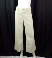 Citizens of Humanity Pants Sz 30 Ivory Corduroy Stretch Flare Ankle High Rise