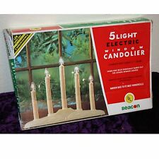 Vintage 5 Light Electric Window Candolier In Box Woolworths + 3 Other Candles
