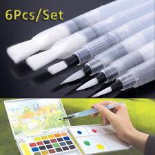 6 PCS Portable Paint Brush Water Color Pencil Soft Watercolor Pen Beginner Art