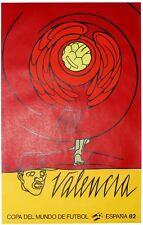 Valerio ADAMI Affiche lithographie Valencia coupe du monde footbal Espana 1982