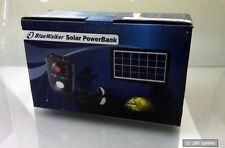 5 Watt PowerWalker 10120440 Solar PowerBank mit 2 x LED Lampen, Urlaub, Camping