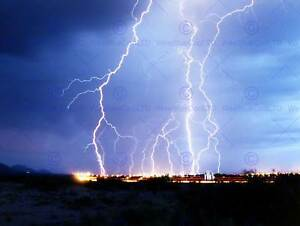 NATURE PHOTO LIGHTNING FORK ELECTRIC STORM COOL POSTER ART PRINT PICTURE BB1560B