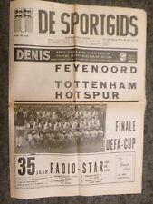 1974 UEFA CUP FINAL - FEYENOORD v TOTTENHAM HOTSPUR - De Sportgids edition