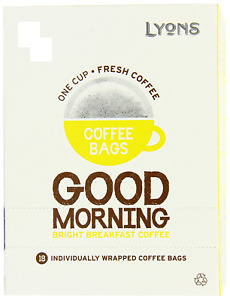 1x Lyons Good Morning coffee Bags individually wrapped bags