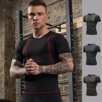 Mens Workout Compression Underwear Base layer Running Tight Cool Dry Shirts Tops