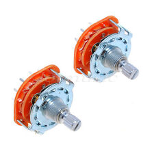 2 Pcs Rotary Switch Selector 2-Pole 6-Position 14 Pin For Guitar Amplifier Lamp