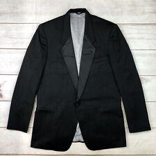 Vintage Christian Dior Mens 44 XL Black One Button Tailored Tuxedo Blazer Jacket