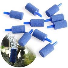 10Pcs Blue Aquarium Air Stone Fish Tank Bubbler Mineral Airstone 6T
