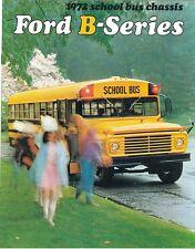 1972 Ford B-Series School Bus Brochure