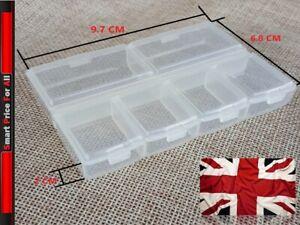 Transparent 6 Individual Section Compartment Organiser Box Plastic divider - S
