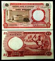 Nigeria 1 Pound 1967 Banknote World Paper Money UNC Currency Bill Note