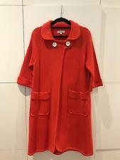 J&M Davidson Woollen Knit Coat - Tangerine Colour - Excellent Condition - Small