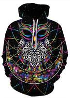 Couples Men Women 3D Warm Print Hoodies  Sweatshirt Casual Jacket Pullover Top